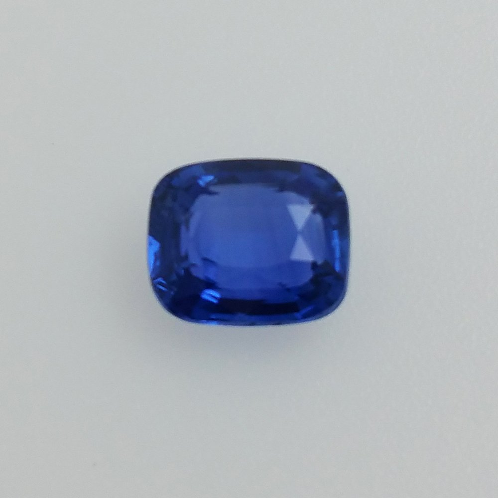img royal sapphire report gia deep cushion with natural heated blue shape color carats